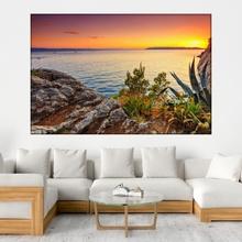 Tablou Apus de Soare Uimitor la Coasta Dalmata, Croatia BTL1