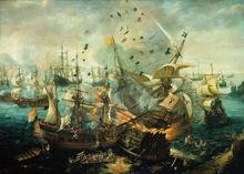 Tablou Batalia de la Gibraltar - 1607