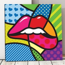 Tablou Buze Pop Art pvs4