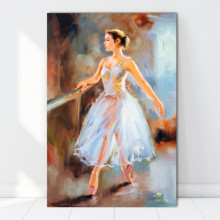 Tablou Canvas Balerina La Antrenament FAB88