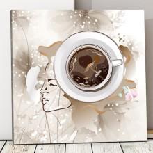 Tablou Canvas Cu Gandul la Cafea ACOF51
