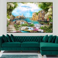 Tablou Canvas Peisaj de Vis in Venetia DIF33