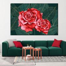 Tablou Canvas Trandafiri Rosii Noblete Exotica ROS60