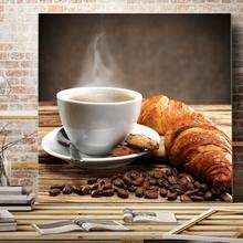 Tablou Ceasca de Cafea cu Croissant