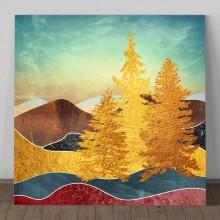 Tablou Decorativ Brazi Aurii TAM2