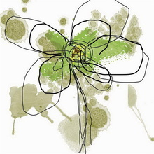 Tablou Edition Green Flower