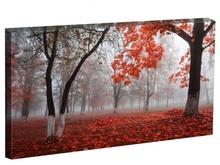 Tablou padure cu frunze rosii st14070