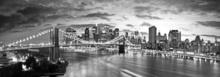 Tablou panoramic New York Manhattan alb-negru