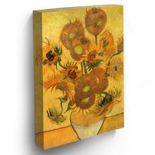 Tablou Vaza cu 15 Floarea Soarelui vg16