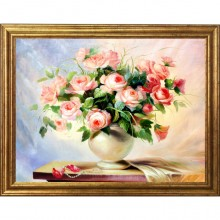 Tablou Vaza cu Trandafiri, Canvas+Rama OPJ16