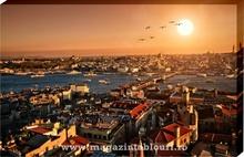 Tablou vedere aeriana  Istanbul in apus