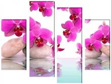 Multicanvas Orhidee in Peisaj Zen bmor16