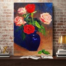 Tablou Decorativ Vaza cu Trandafiri