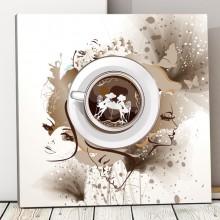 Tablou Canvas Cu Gandul la Cafea ACOF52