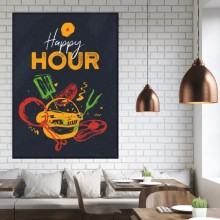 Tablou Canvas Barbeque Happy Hour BRF53