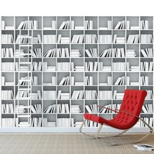 Fototapet 3D Biblioteca Moderna Alb Negru FT543