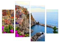 Multicanvas coasta Amalfi din Italia