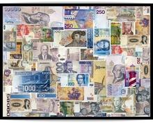 Poster inramat valuta