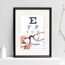 Poster + Rama Afis Oftalmologie cu Rama de Ochelari OPMD20