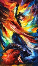 Reproducere Leonid Afremov - Dansul focului