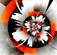 Tablou abstract orange abs13