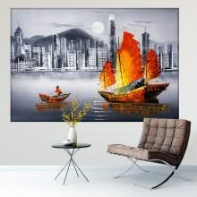 Tablou Artistic Port Victoria Hong King TBB10