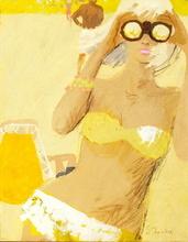 Tablou canvas 11 Fata cu binoclu