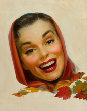 Tablou canvas 26 Femeia cu esarfa