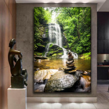 Tablou Canvas Cascada cu Pietre Zen WTF100