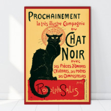 Tablou Canvas Chat Noir VR1