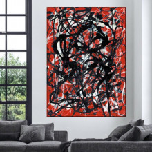 Tablou Canvas Jackson Pollock Free Form ARJP1