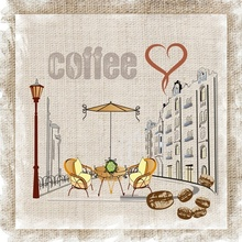 Tablou canvas vintage coffee in town 2