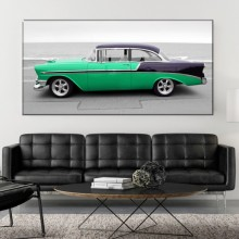 Tablou Canvas Vintage Retro Green Car ADC21