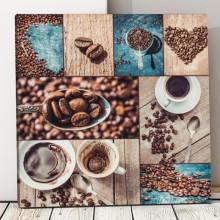 Tablou Colaj Cafea si Boabe de Cafea ACOF34