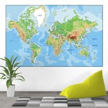 Tablou Harta Fizico-Geografica A Lumii NVV24