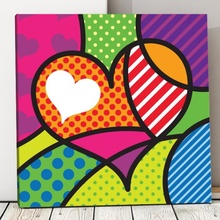 Tablou Inima Pop Art pvs3