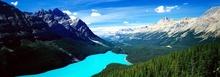 Tablou panoramic cu lac in munti 01
