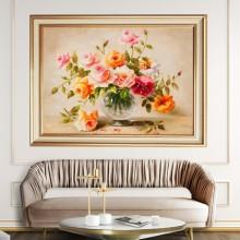 Tablou Vaza cu Trandafiri, Canvas+Rama FAS137