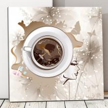 Tablou Canvas Cu Gandul la Cafea ACOF50