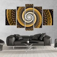 Multicanvas Gold Spiral EXA17