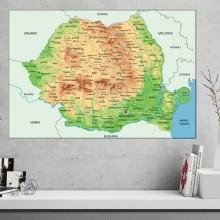 Tablou Harta Fizico-Geografica A Romaniei NVV39