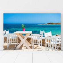 Tablou Cafenea la Marea Egee, Grecia GRTV28