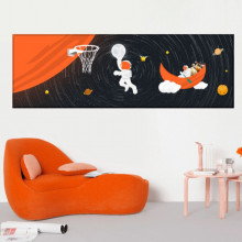 Tablou Canvas Astronauti La Baschet OUSA6