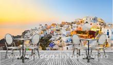 Fototapet Apus mirific in Santorini tisp109