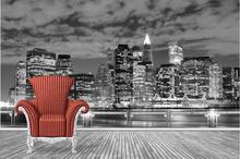 Fototapet Vedere Panoramica Manhattan in luminile noptii ftnyc27