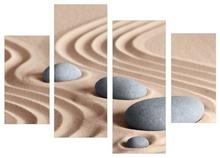 Multicanvas pietre zen pe nisip