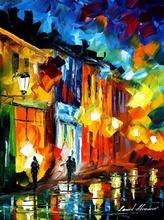 Reproducere Leonid Afremov - Luminile orasului vechi