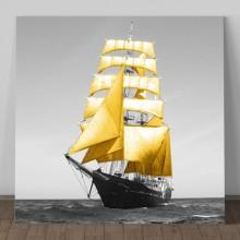 Tablou Barca cu Panze Galbene OPO263