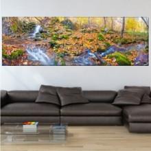 Tablou Canvas Cascada in Peisaj de Toamna wtf45