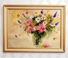 Tablou canvas cu rama aurie b006 14